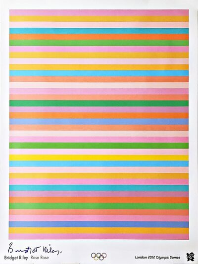 "Bridget Riley, '""Rose Rose"" Limited Edition Offset Lithograph for 2012 Olympics with Hologram (Hand Signed)', 2011"