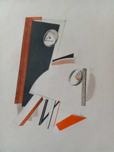 El Lissitzky, 'Victory over the Sun: Anxious People', 1923