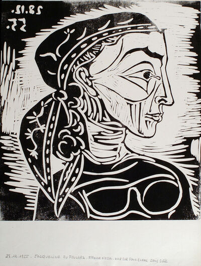 Pablo Picasso, 'Profil de Jacqueline au Foulard', 1955