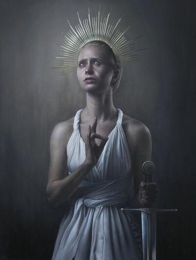 Grant Gilsdorf, 'Justicia Attempts Prayer', 2020