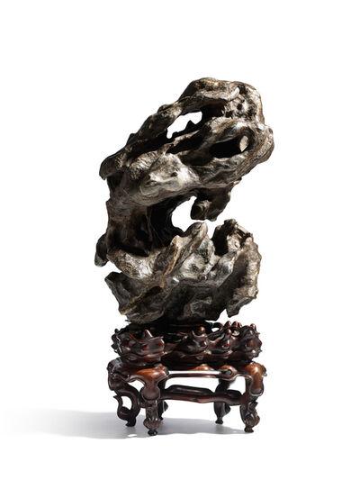 Ming Dynasty, 'A large vertical lingbi scholar's rock', Ming Dynasty (1368-1644)