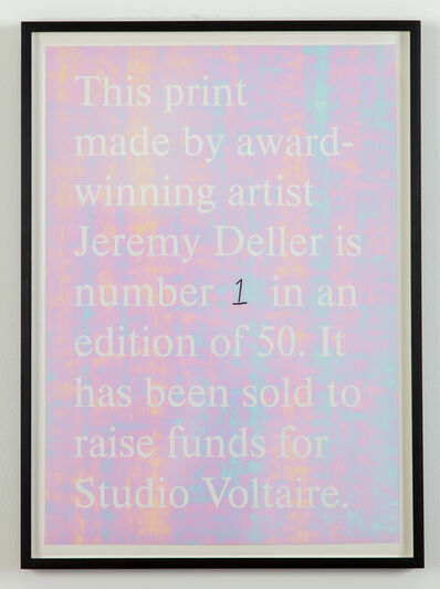 Jeremy Deller, 'Untitled ', 2019