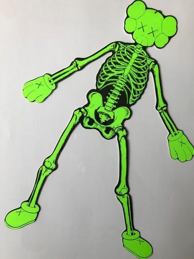 KAWS, 'Green skeleton'