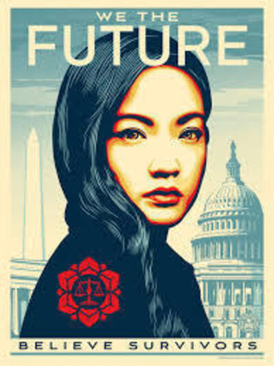 Shepard Fairey, 'WE THE FUTURE Rewrite the Law Amanda Nguyen (Large)', 2018