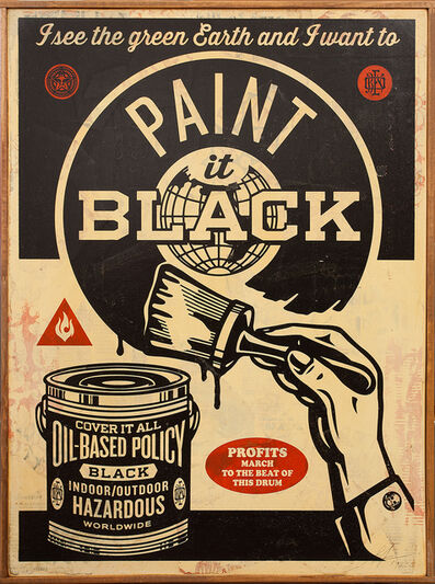 Shepard Fairey, 'Paint It Black (Brush)', 2014
