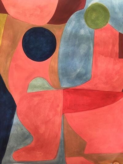 Caroline Denervaud, 'Conversation rouge entre bleu et rose', 2019