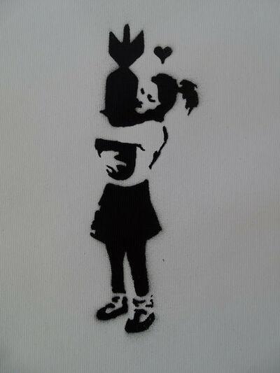 "Banksy, 'BANKSY DISMALAND ""BOMB HUGGER"" WITH COA', 2015"