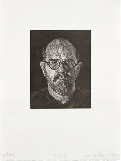 Chuck Close, 'Self Portrait I', 1997