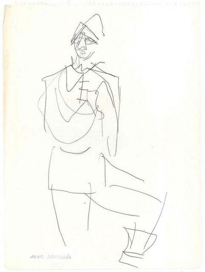 Alkis Matheos, 'Sketch for a Costume', Mid 20th Century