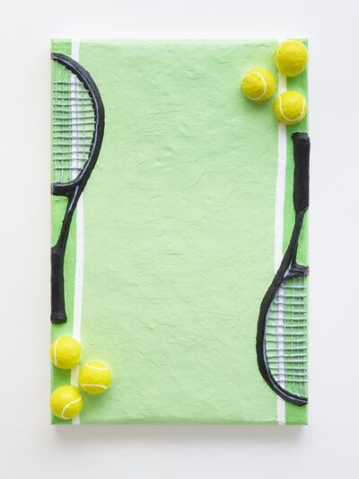 Gina Beavers, 'Tennis Racket Stationery', 2018