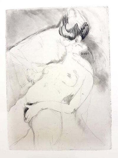 Jean Gabriel Domergue, 'Jean Gabriel Domergue - Women's Love - Original Etching', 1924