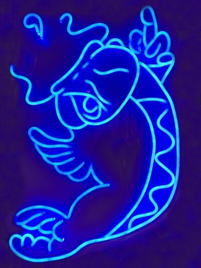 Szabotage, 'Shiny Koi - Blue', 2018