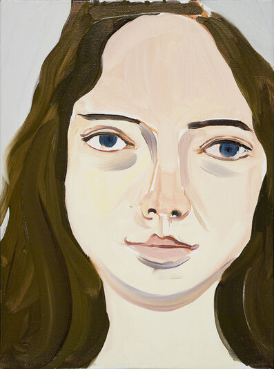 Chantal Joffe, 'Head of Scarlet', 2010