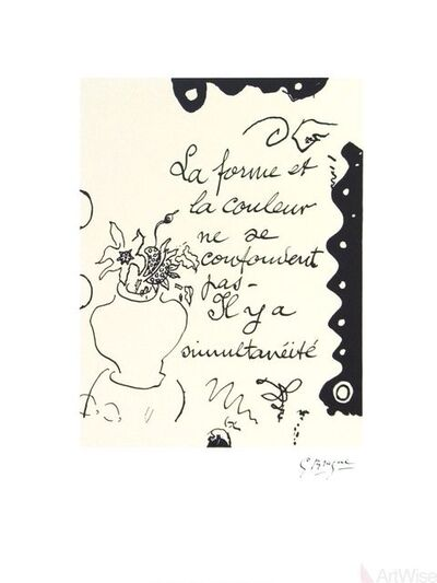 Georges Braque, 'La Forme', 1993