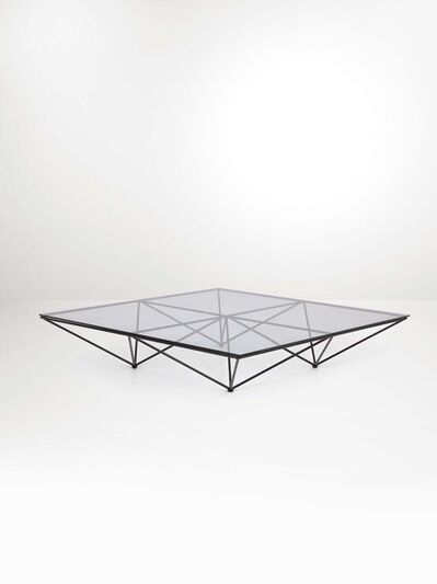 Paolo Piva, 'An Alanda low table with a lacquered metal structure and a glass top', 1970 ca.