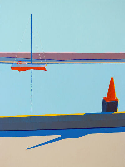 Timothy Mulligan, 'Orange Cone on a Dock, Morro Bay', 2020
