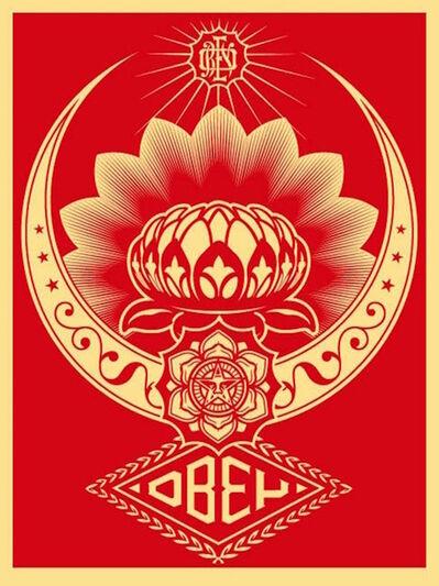 Shepard Fairey, 'Lotus Ornament Red ', 2008