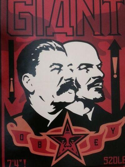 Shepard Fairey, 'Obey Stalin Lenin poster', 1998
