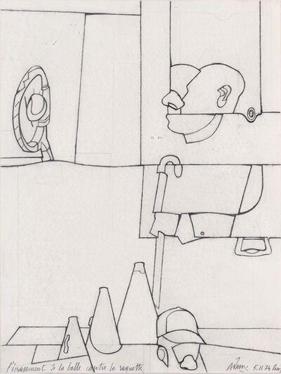 Valerio Adami, 'L'écrasement de la balle contre la raquette', 1974