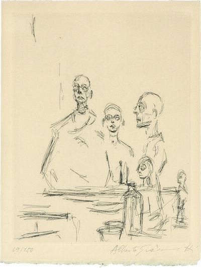 Alberto Giacometti, 'Sculptures dans L'Atelier.  Sculptures in the Artist's Studio', 1964