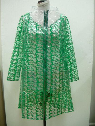 Thomas Bayrle, 'Raincoat green cups ', 2009