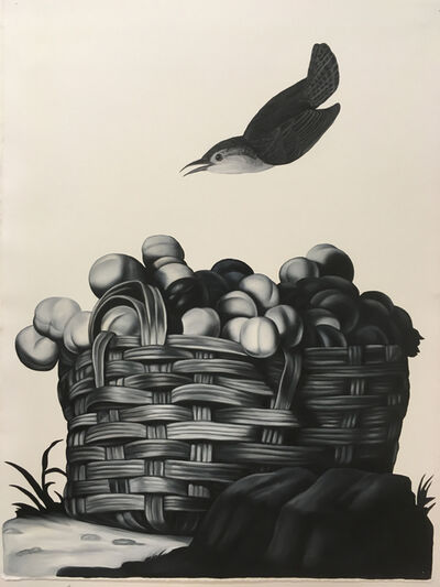 Shelley Reed, 'Basket of Fruit (after Tintore and Audubon)', 2020