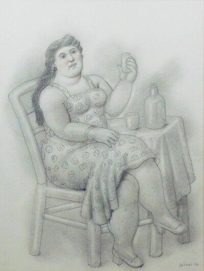 Fernando Botero, 'Donna con Bicchiere (Woman with Glass)', 2006