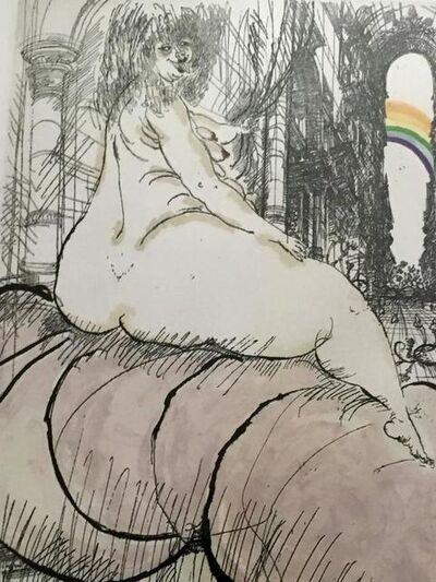 Ralph Steadman, 'The Temple, Large Nude Woman with Rainbow Ralph Steadman', 20th Century