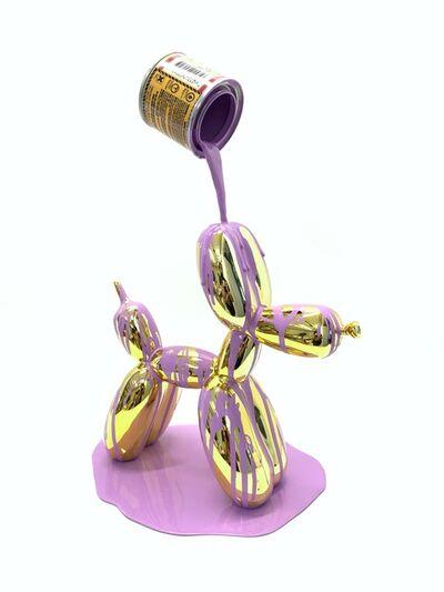 Joe Suzuki, 'Balloon Puppy (Gold and Violet)', 2021
