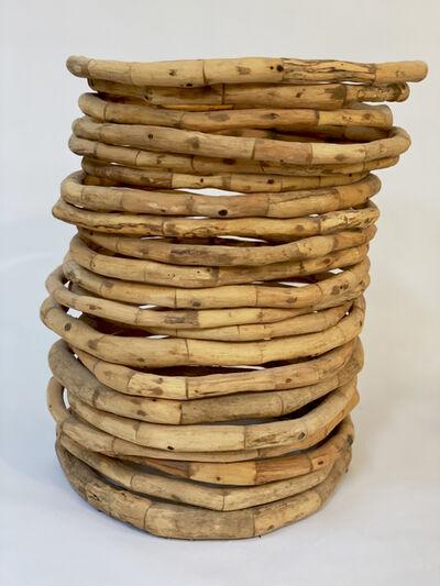 Loren Eiferman, 'Wood Sculpture, 336 pieces, 21 rings: 'Chlorophyll'', 2015