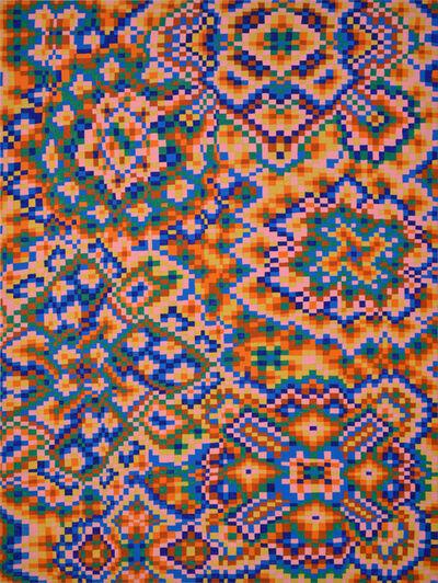 Todd Kelly, 'Orange/Blue Grid #1', 2017