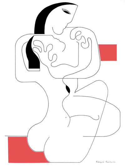 Hildegarde Handsaeme, 'Le Calin with Red Accent', 2019