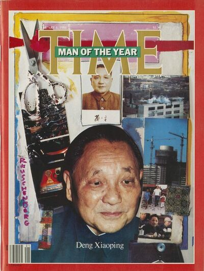 "Robert Rauschenberg, 'Time Magazine Cover with Deng Xiaoping ""Man of the Year"" ', January 6-1986"