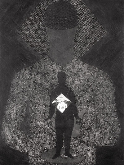 Belkis Ayón, 'Untitled [Man with Sikan in His Hands]', 1993