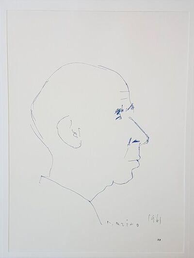 "Marino Marini, 'Henry Miller - From ""A Suite of Sixty-three Re-creations of Drawings and Sketches in Many Mediums"" ', 1968"