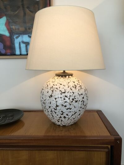 Jean Besnard, 'Big ceramic ball lamp', ca. 1930