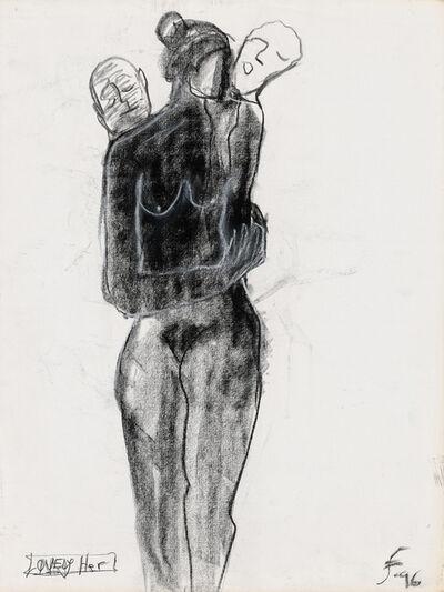 Lawrence Ferlinghetti, 'Lovely Her ', 1996