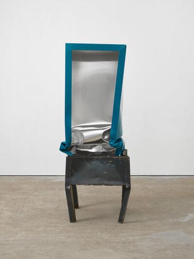 Angela de la Cruz, 'Crate (Turquoise)', 2017