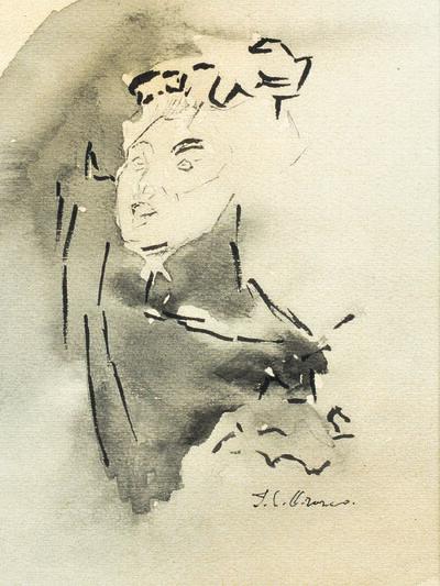 José Clemente Orozco, 'Portrait de femme'