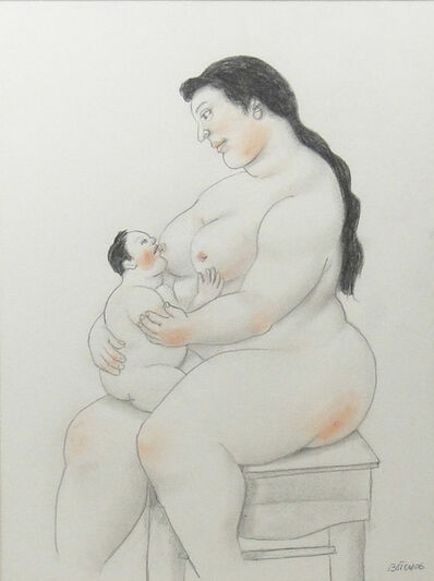 Fernando Botero, 'Breastfeeding mom', 2006