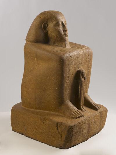 Unknown Artist, 'Block Statue of Senwosret-senebefny', ca. 1836