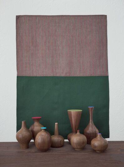 "Edgar Orlaineta, 'With Hidden Nature ""Verde Oscuro""', 2018"