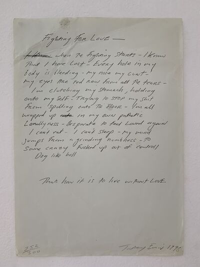 "Tracey Emin, 'TRACEY EMIN ""FIGHTING FOR LOVE"" VINTAGE PRINT', 1998"