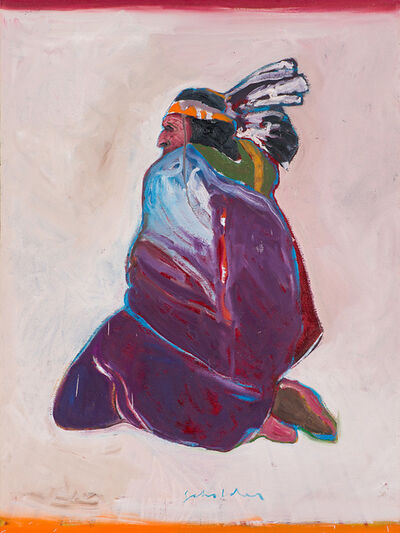 Fritz Scholder, 'Sitting Indian', 1977