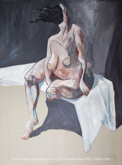 Jerome Rapin, 'Femme Dans Chambre Grise 1', ca. 2019