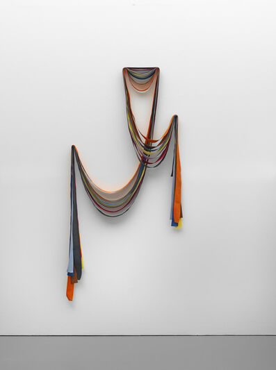 Ulla von Brandenburg, '7 Ribbons: Orange, Brown, Blue, Yellow, Violet, Red, Grey', 2015