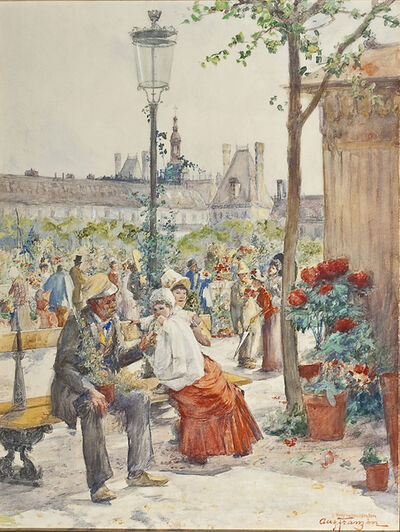 August Franzen, 'Le Marche aux Fleurs de Notre Dame', Undated
