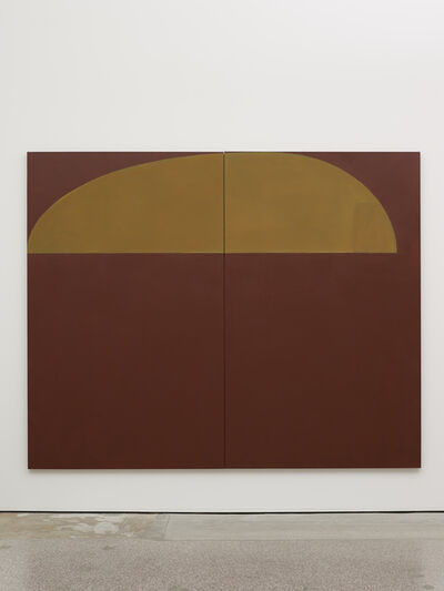 Suzan Frecon, 'Snaefellsjoekull (dark reddish brown violet earth) northern might', 2018