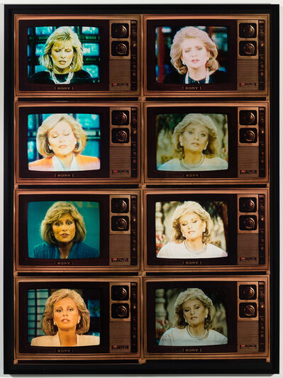 Robert Heinecken, 'TV Newswomen Corresponding (Faith Daniels and Barbara Walters)', 1986