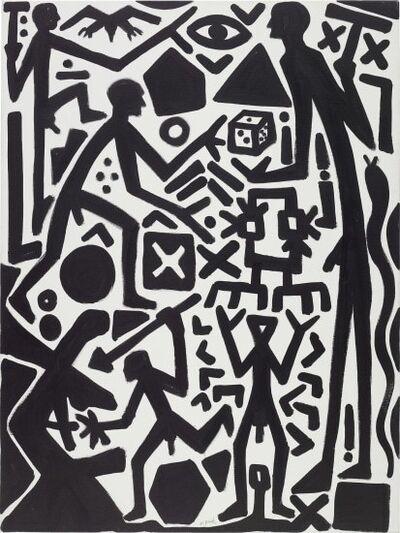 A.R. Penck, 'Soulèvement des joueurs', 2001